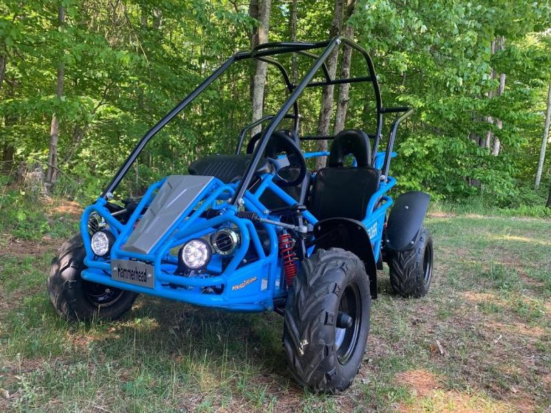 Holiday Special! NEW Hammerhead MudHead 208R Go Kart ages 8-13-Blue
