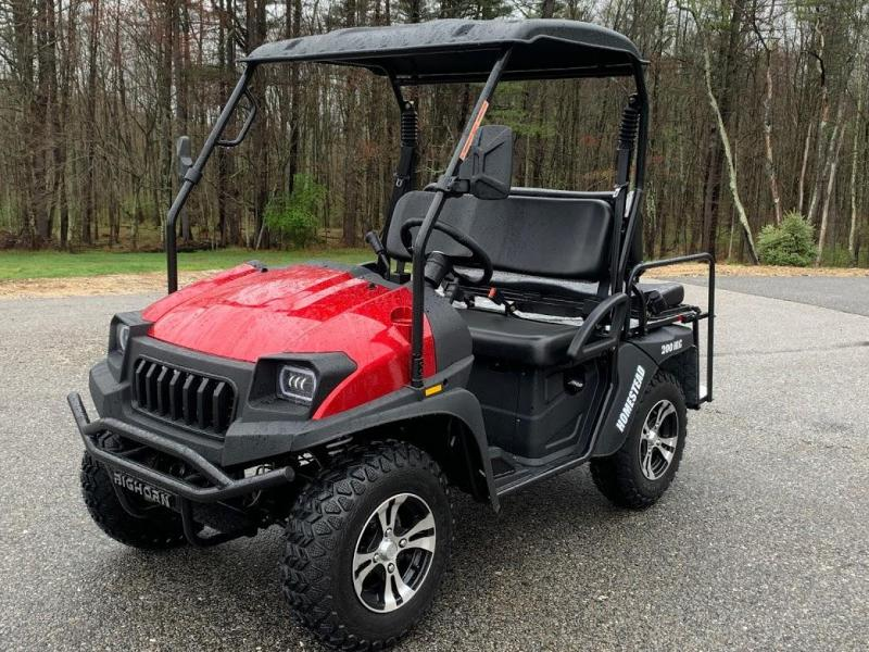 Bighorn 200GVXT 25 MPH Fuel Injected GAS 4 pass golf car style UTV w/Hi-Lo gears-RED