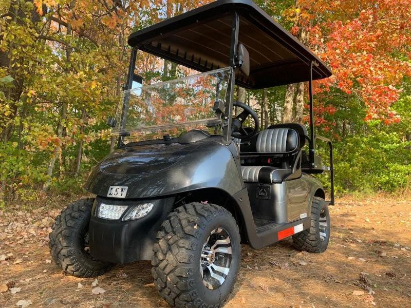 2021 MidSouth LSV EZ-GO RXV 25MPH Street Legal 4 pass golf cart-Charcoal Metallic