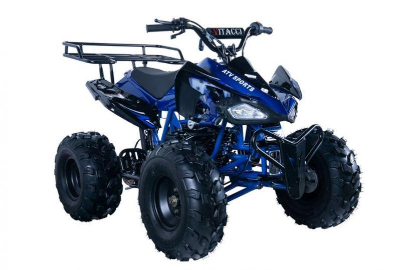 Fall Special! New Vitacci Jet 9 125CC youth ATV 2WD w/reverse-BLUE-30MPH