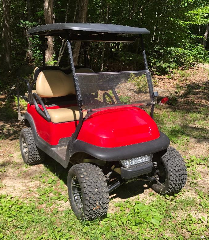 "COMING SOON! Club Car Precedent Electric 4 pass RED cart 6"" LIFT KIT-2018 TROJAN BATTERY"