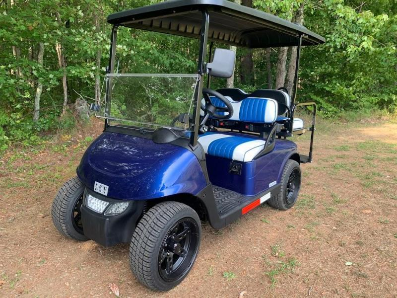 2021 MidSouth EZGO RXV LSV 25MPH Street Legal golf car Pearl Blue