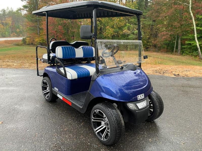 2021 MidSouth EZGO RXV LSV 25MPH Street Legal golf car Pearl Blue