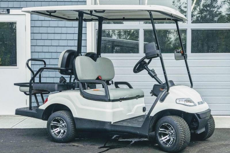 Summer Special!! 25 MPH NEW AEV LUXURY 48 Volt 4 PERSON electric golf car-White