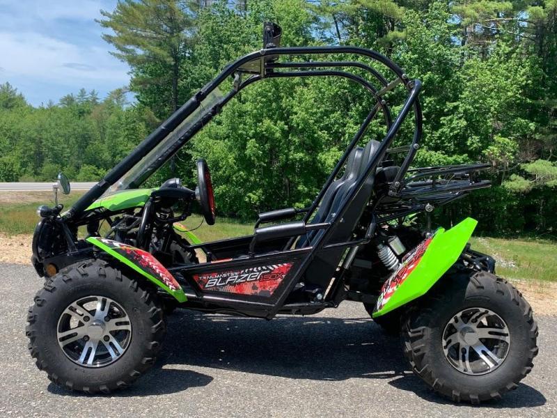 Like NEW Trailmaster Blazer 150X Go Kart Teen-Adult 40 MPH Green-16 miles