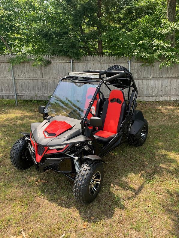 Trailmaster Cheetah 200EX Go Kart Teen-Adult 38 MPH SPORT UTV RED