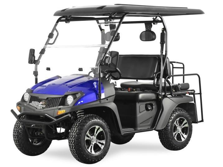Trailmaster Taurus 200GX 25 MPH GAS 4 passenger golf car style UTV BLUE