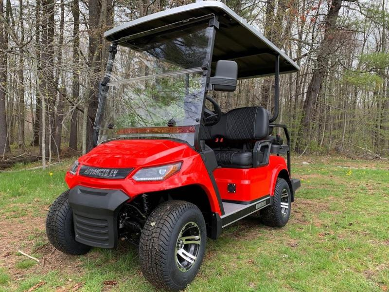 25 MPH NEW AEV Advent  LUXURY 48 Volt 4 PERSON electric golf car-RED