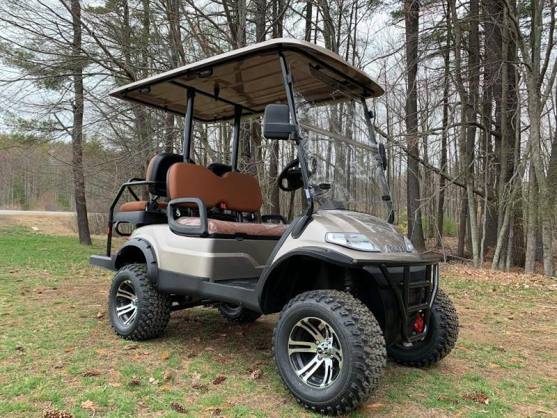 Spring Special!! NEW AEV 25 mph LIFTED LUXURY Street Legal LSV 48 Volt 4 PERSON electric golf car-Champagne