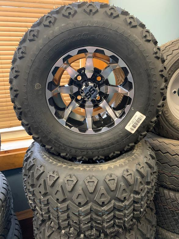 """NEW 20""""-22""""wheel assemblies with aluminum rims for lifted golf carts"""