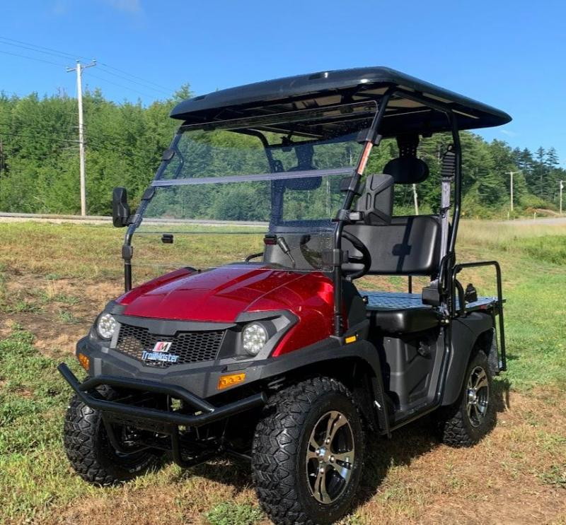 Trailmaster Taurus 200GX 25 MPH GAS 4 passenger golf car style UTV RED