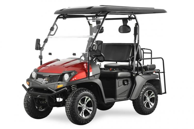 Trailmaster Taurus 200GX GAS 4 passenger golf car style UTV RED