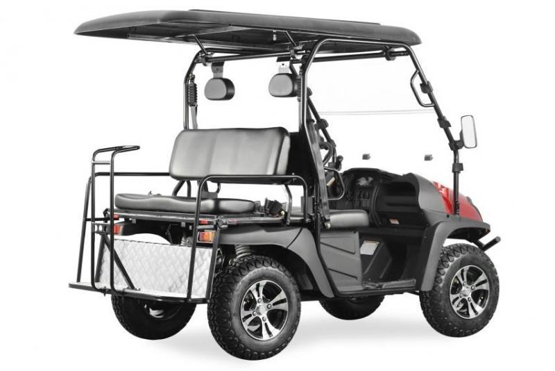 Trailmaster Taurus 200GX GAS 4 passenger golf car style UTV RED