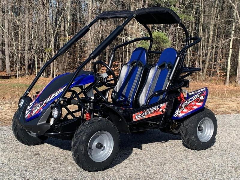 Holiday Special!NEW TrailMaster Blazer 200 31MPH Go Kart age 8-13-Blue