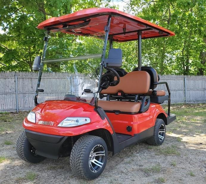 Summer Special!! 25 MPH NEW AEV LUXURY 48 Volt 4 PERSON electric golf car-red