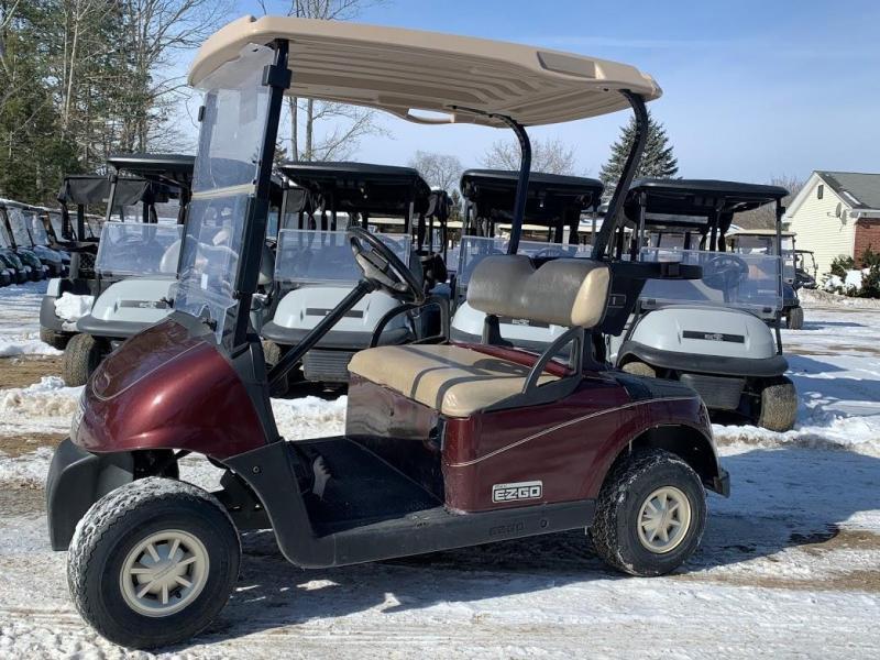 2011 Metallic Maroon EZGO RXV 2018 Trojan batteries 48 volt golf cart