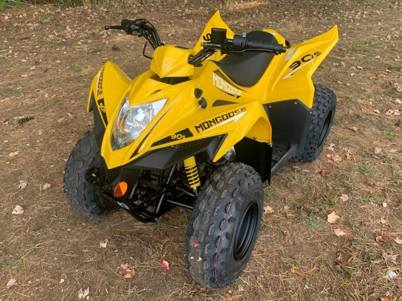 Black Friday Sale! 2021 KYMCO Mongoose 90S YOUTH AGE 10 UP ATV-YELLOW