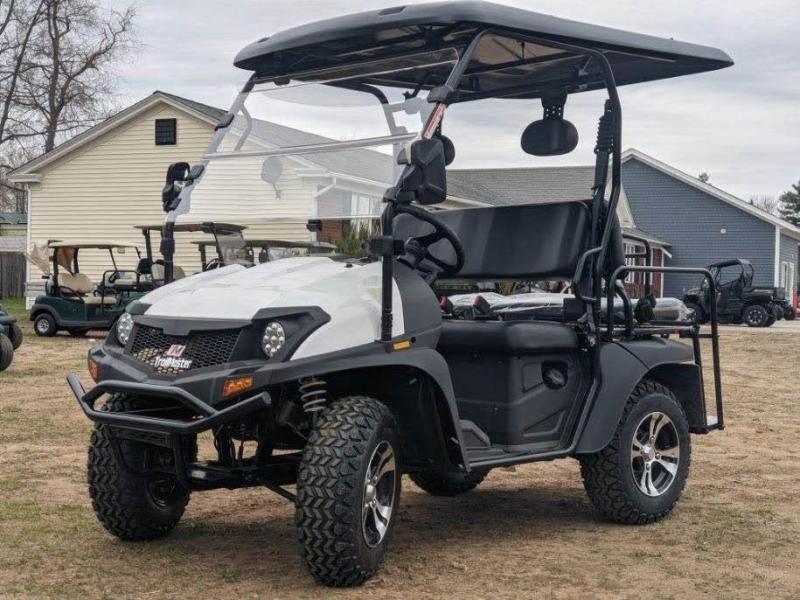 Taurus 200GX 25 MPH GAS 4 pass golf car style UTV w/Hi-Lo gears-White