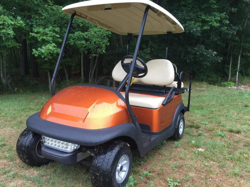 Club Car Precedent 4 pass electric golf cart-ATOMIC ORANGE-STUNNING!