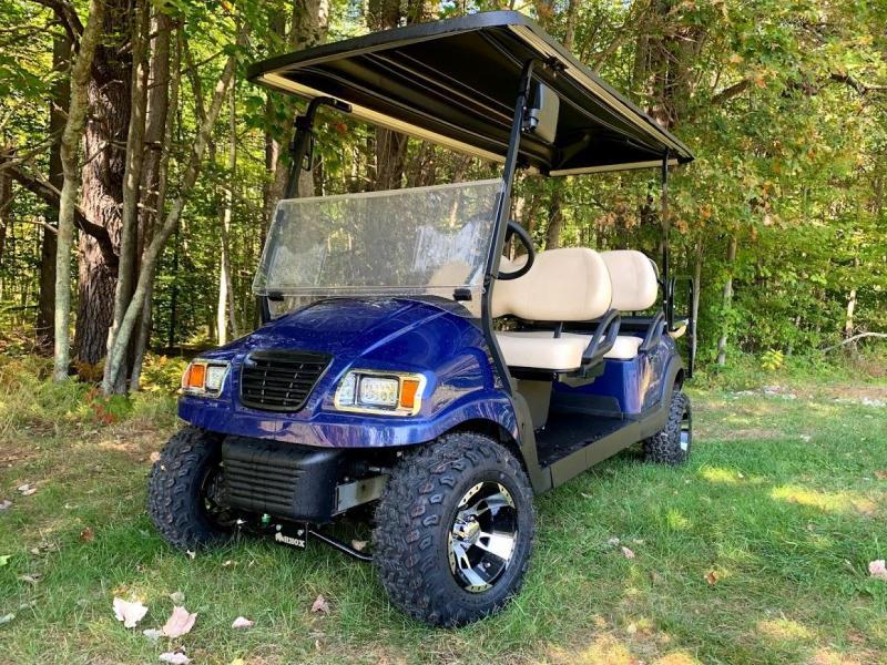CUSTOM Club Car Precedent Metallic Blue Phantom 6 pass ELECTRIC LIMO LIFTED