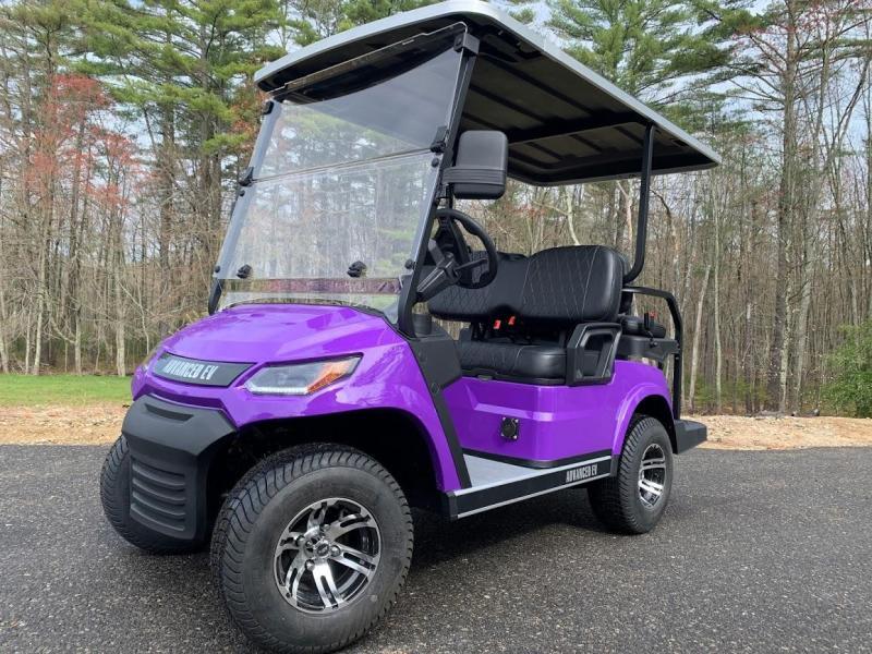 25 MPH NEW AEV Advent  LUXURY 48 Volt 4 PERSON electric golf car-Purple