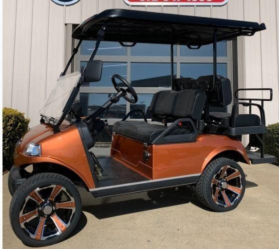 "New Evolution Classic 4 ""PLUS"" STREET LEGAL LSV 25MPH golf car Copper"