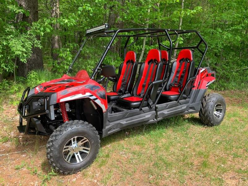 Trailmaster Challenger4 150X 4 Passenger SIDE BY SIDE SPORT UTV RED