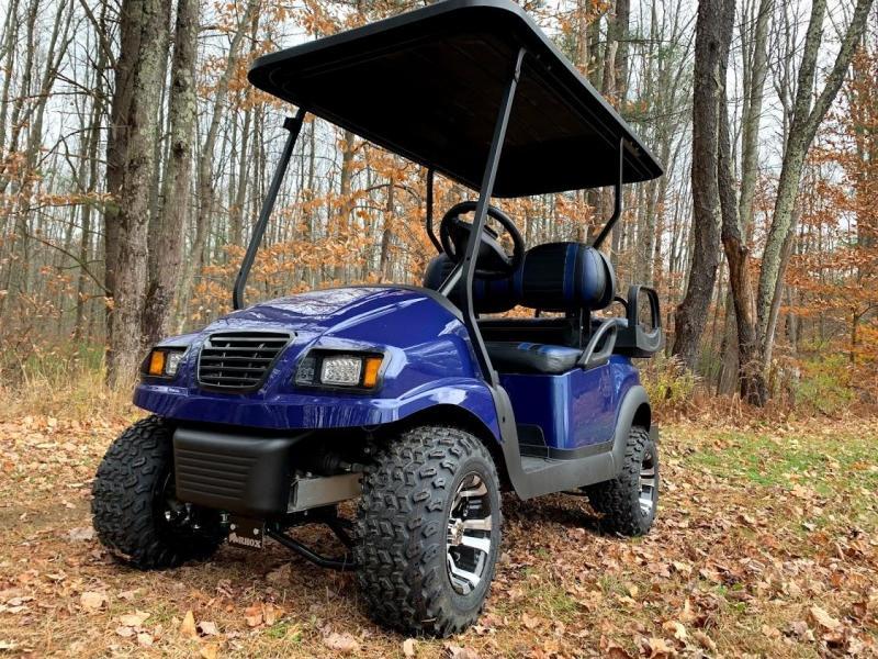 "CUSTOM Precedent Metallic NAVY Phantom ELEC 4PASS Golf Car 4"" LIFT"
