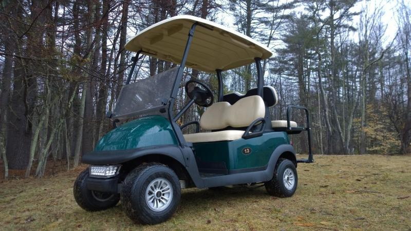 Club Car Precedent 4 Person 48 volt GREEN 2016 BATTERIES w/LED LIGHTS