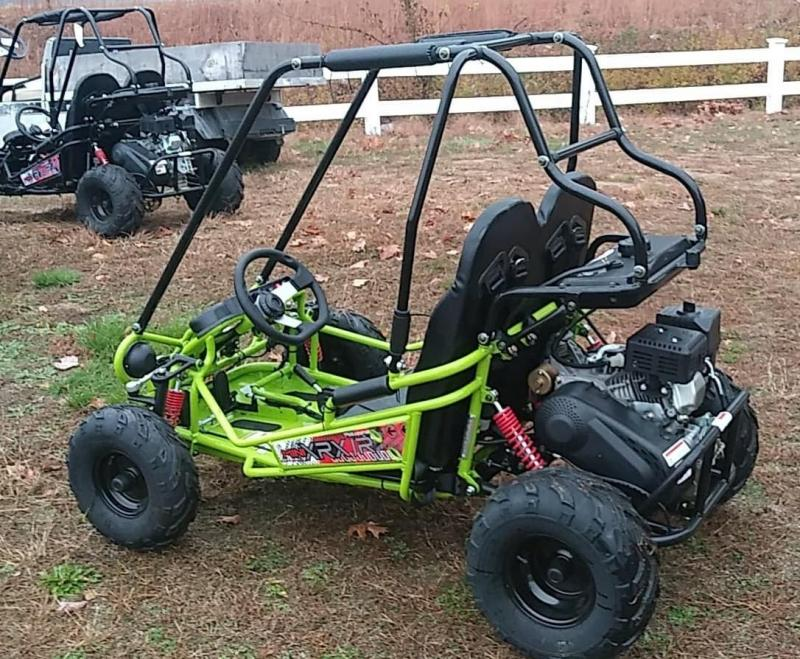 Trailmaster Mini XRX/R+ Go Kart Youth size ages 5-9 GREEN12 MPH