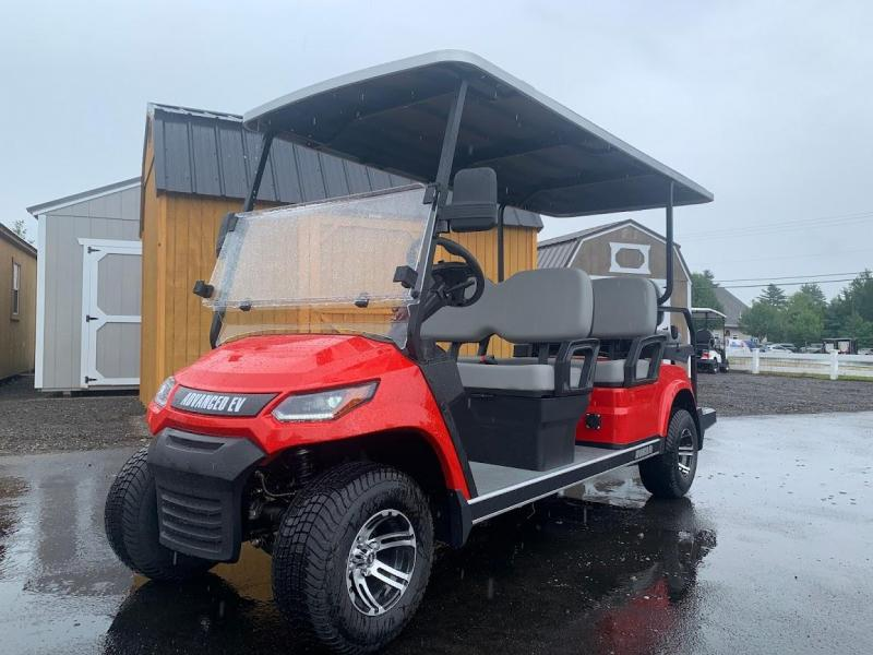 AEV Advent  LUXURY 48 Volt 6 PERSON electric golf car LIMO 19 MPH-Red  (compare to ICON i60)