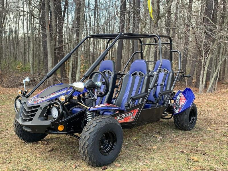 NEW Trailmaster Blazer 200EX 4 Passenger Family Go Kart 38MPH Blue