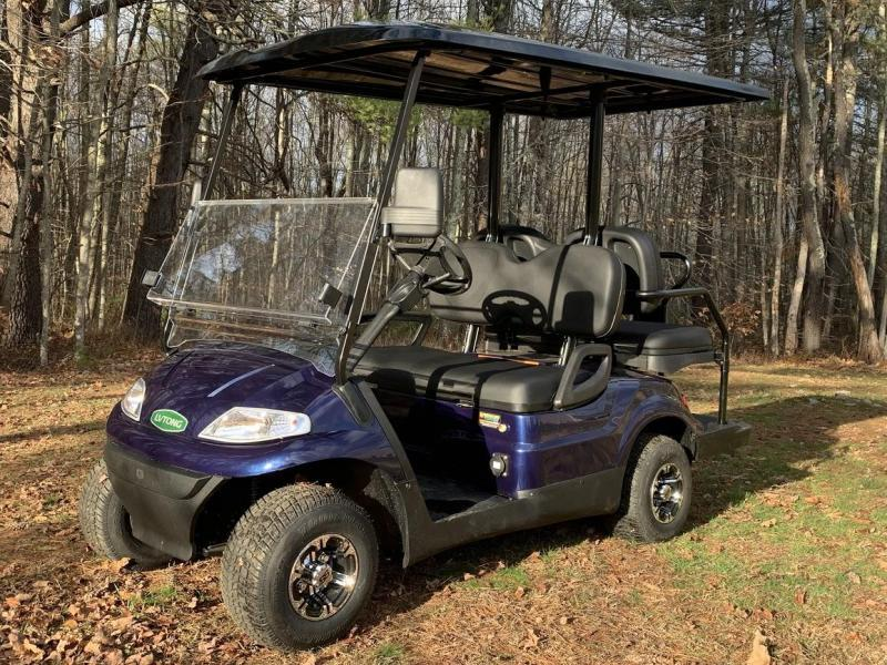 WINTER CLEARANCE! NEW LVT LUXURY 48 Volt 4 PERSON electric golf car-Navy