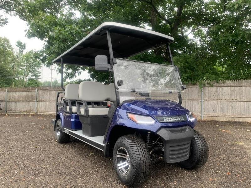AEV Advent  LUXURY 48 Volt 6 PERSON electric golf car LIMO 19 MPH-Blue  (compare to ICON i60)