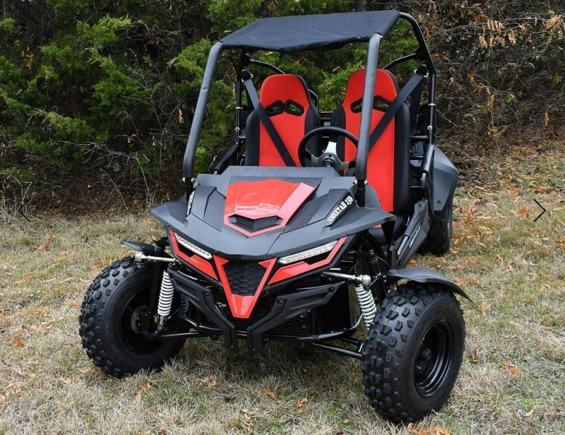 Trailmaster Cheetah 200 EFI Go Kart Teen-Adult 38 MPH SPORT UTV RED