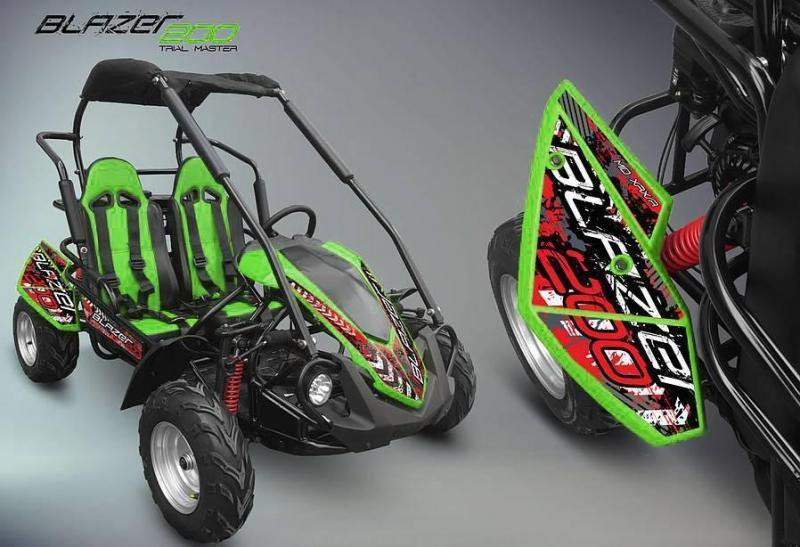 NEW TrailMaster Blazer 200R 31MPH Go Kart age 8-13 Green