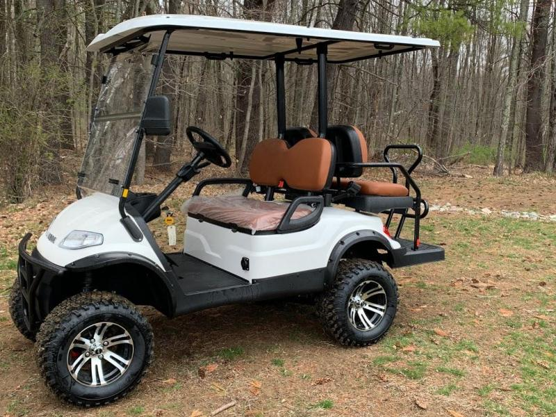 Spring Special!! 25 MPH NEW AEV LUXURY Lifted Street Legal LSV 48 Volt 4 PERSON electric golf car-White