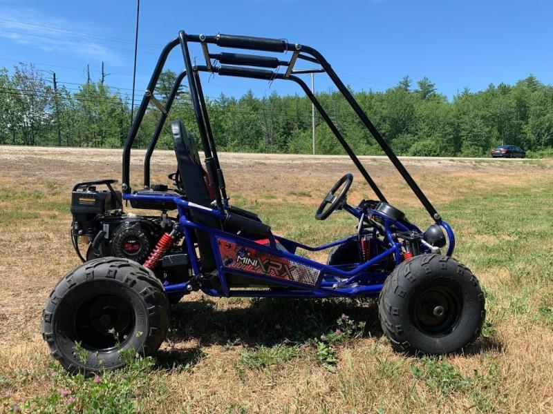 Trailmaster Mini XRX+ Go Kart Youth size ages 5-9 BLUE 12 MPH