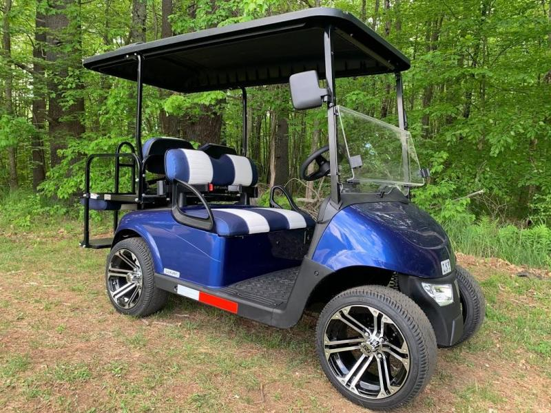 2020 MidSouth EZGO LSV 25MPH Street Legal 4 pass golf car-Pearl Blue