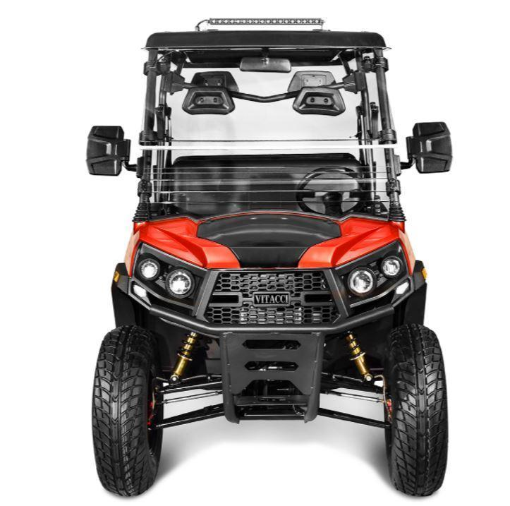 Rover 200 25 MPH Fuel Injected GAS 4 pass golf car style UTV-Red