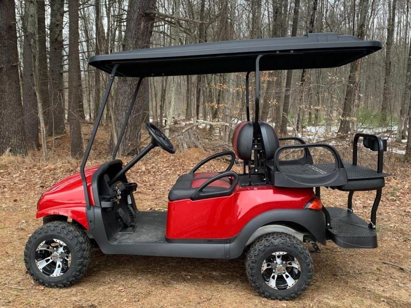 "CUSTOM Metallic RUBY Phantom 48V 4PASS Golf Car 4"" LIFT KIT"