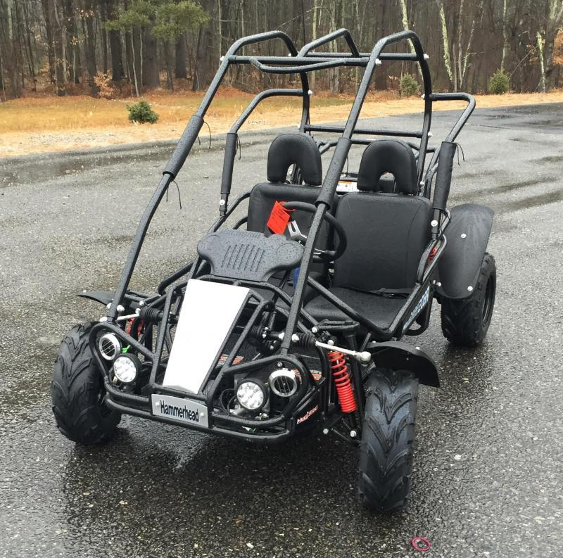 Holiday Special! NEW Hammerhead MudHead 208R Go Kart ages 8-13-Black