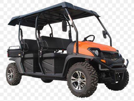 Bighorn Street Legal LSV 6 passenger UTV style golf cart limo-ORANGE