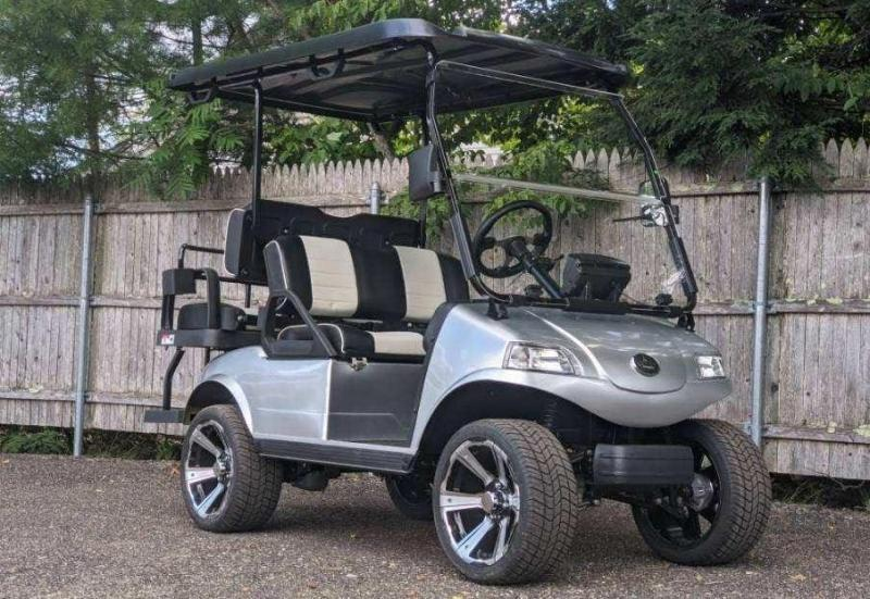 New Evolution Classic 4 STREET LEGAL LSV 25MPH golf car Electric Lithium Powered SILVER