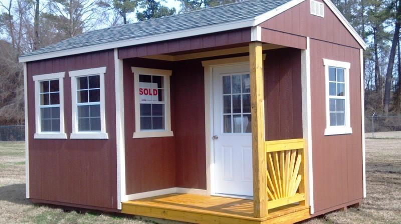 Brand New Old Hickory Utility Shed with Side Porch 8' x 8'