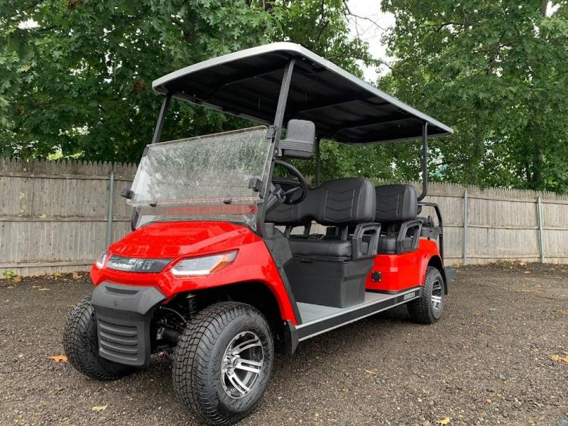 AEV Advent  LUXURY 48 Volt 6 PERSON electric golf car LIMO 19 MPH-Red  (compare to ICON i60L)