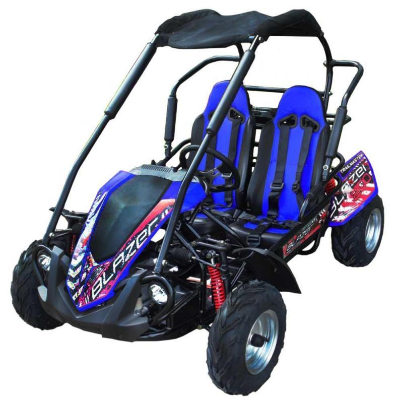 NEW Trailmaster Blazer 200 31MPH Go Kart Youth size ages 7-12 BLUE