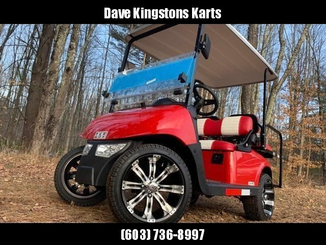 2020 MidSouth EZGO RXV LSV 25MPH Street Legal 4 pass golf car-Fire Red