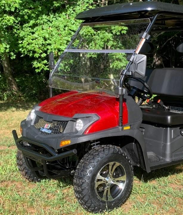 Taurus 200GX 25 MPH Fuel Injected GAS 4 pass golf car style UTV w/Hi-Lo gears-RED