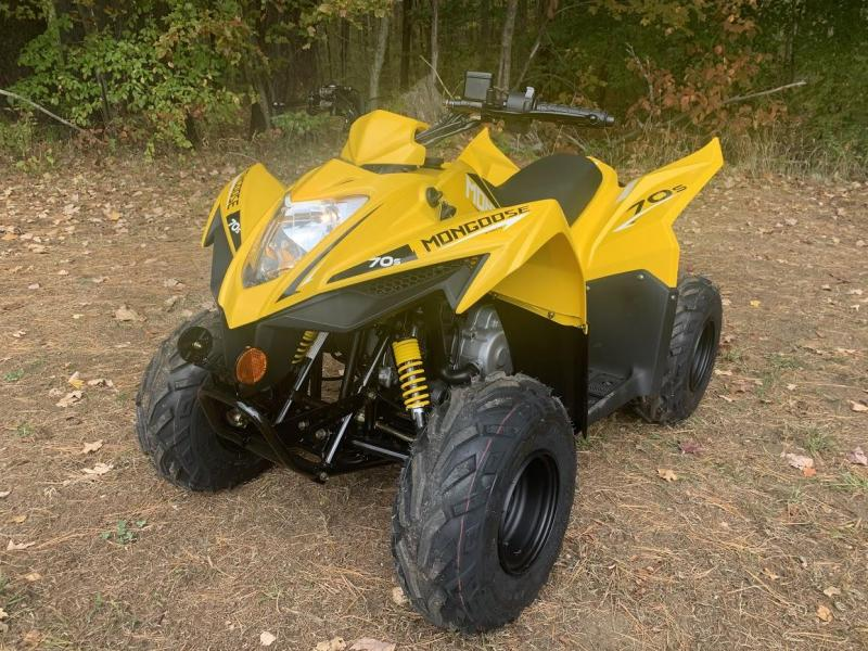 Black Friday Sale! 2021 KYMCO Mongoose 70S ATV YOUTH AGE 6 UP- YELLOW or BLACK